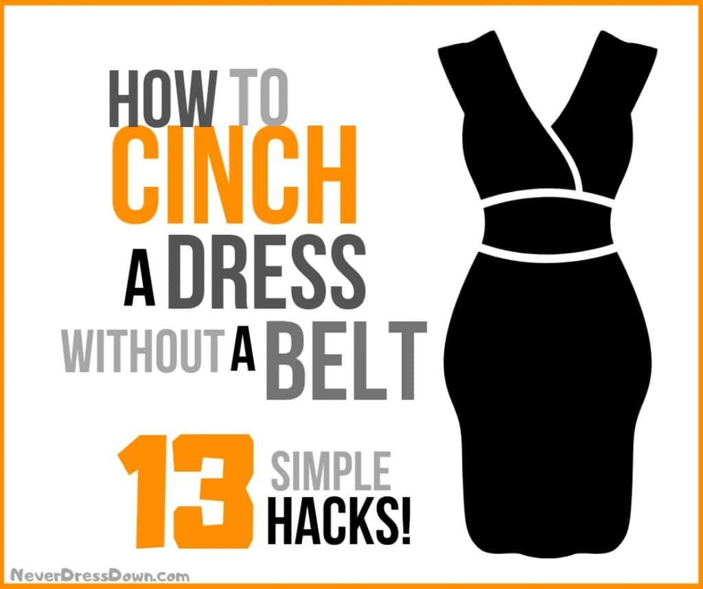 How to Cinch a Dress Without a Belt