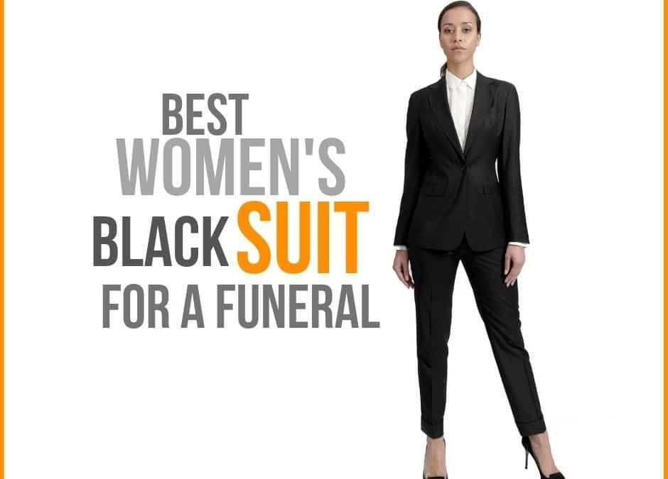 Women's Black Suit for Funeral