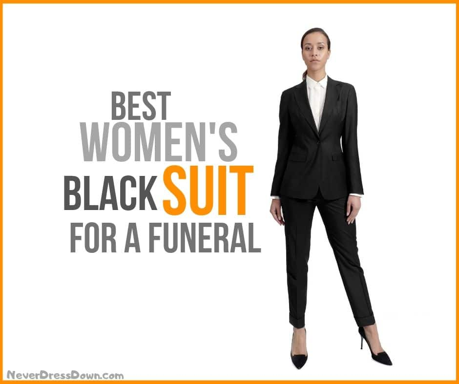 Women's Black Suit for Funeral
