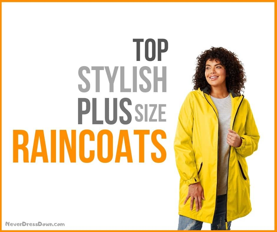 Stylish Plus Size Raincoats